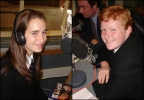 Students Jamyma Hanson and James Foster being interviewed for The Organists Entertains on BBC Radio 2