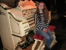 Esther tries out the Blackpool Tower Wurlitzer