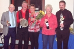 2017 Amateur Cup Finalists and Winners. Jim Gathercole, Geoff Norman, Sue Manicom, Gill Coombes and Angus Beckley.