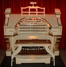 The recently installed Wurlitzer organ at Victoria Hall