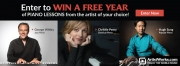 Win a free year of piano lessons from an artiste of your choice!