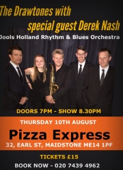 Rod Pooley's band The Drawtones debut at Pizza Express Jazz Club