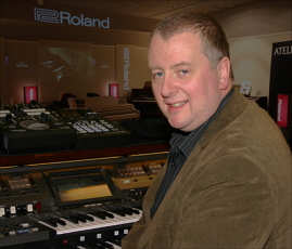 David at the Roland Atelier AT900c with his video extras on top