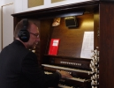 Andy recording the historic 'Handel' organ, Gosport