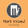 The new shop logo for Mark Ireland Pianos!