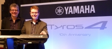 With fellow demonstrator Richard Bower during the Yamaha Tyros 10th Anniversary Tour
