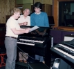 1988: With John and Chris Taylor at Grosvenor Studios (Birmingham)